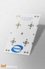 PCB Strip pour 4 LED CREE XM-L compatible optique Ledil