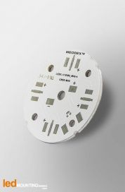 D40 MCPCB for 4 LEDs CREE MX-6 Ledil LED Lens compatible